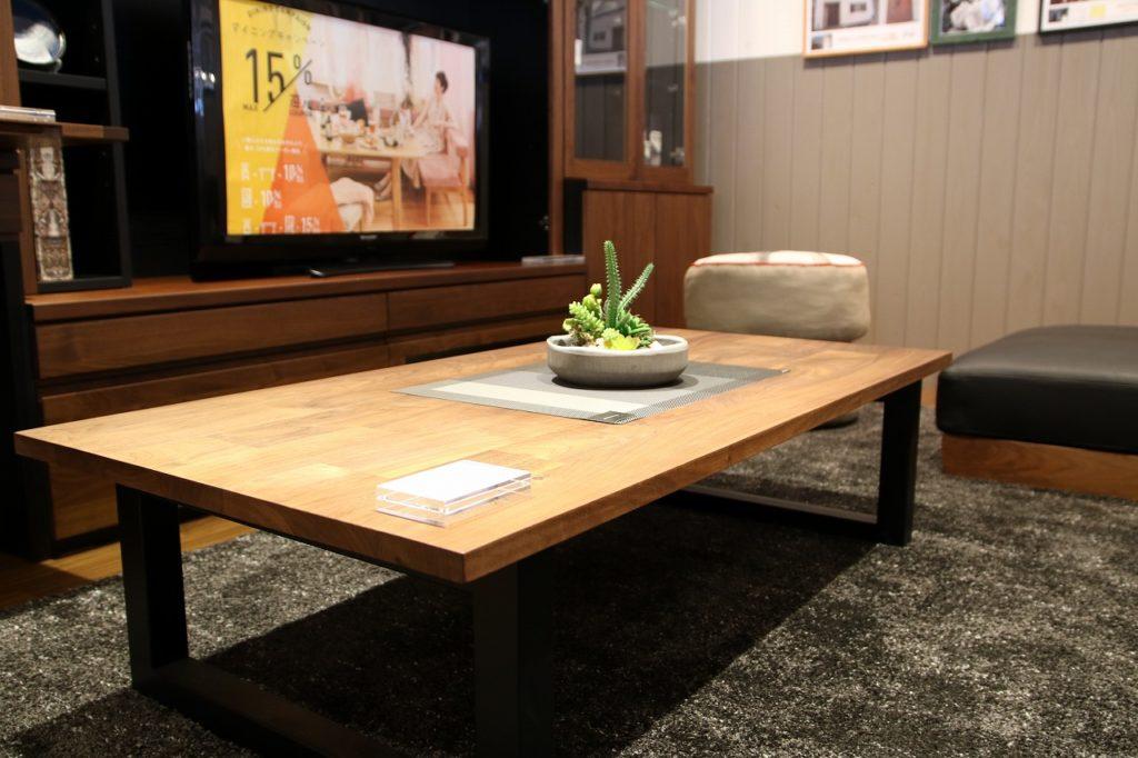 新潟 家具 インテリア おしゃれ かっこいい 無垢 ダイニング テーブル