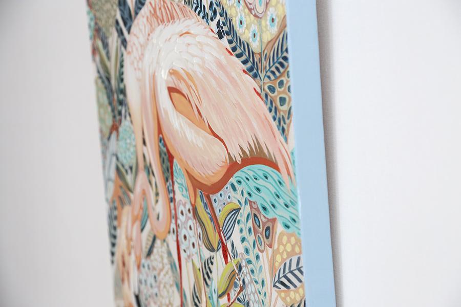 新潟 家具 インテリア 鳥 フラミンゴ アート 絵 絵画 美術