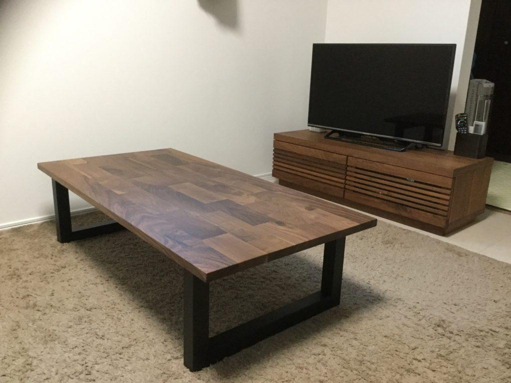 新潟 家具 インテリア おしゃれ リビングテーブル 無垢 ウォールナット